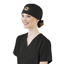 University of Missouri Tigers  Black Scrub Cap for Women