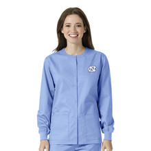 University of North Carolina Tar Heels Warm Up Nursing Scrub Jacket for Women