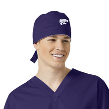Kansas State Purple Scrub Cap for Men