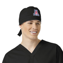 Arizona Wildcats Black Scrub Cap for Men