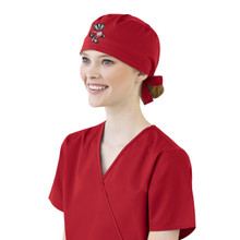 University of Wisconsin Badger Logo Scrub Cap for Women