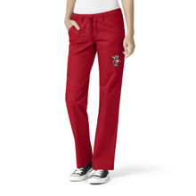 University of Wisconsin Badger logo Women's Cargo Straight Leg Scrub Pants