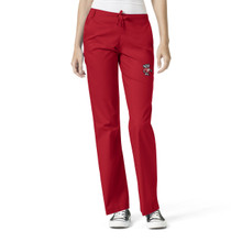 University of Wisconsin Badger Logo Women's Flare Leg Scrub Pants