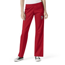 University of Wisconsin Badger Logo Women's Elastic Waist Cargo Scrub Scrub Pants
