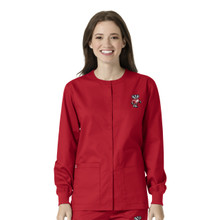 University of Wisconsin Badger Logo Warm Up Nursing Scrub Jacket