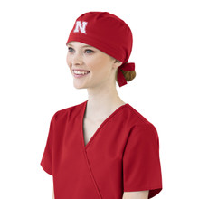 University of Nebraska Cornhuskers Scrub Cap for Women