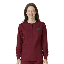 University of South Carolina Gamecocks Warm Up Nursing Scrub Jacket*