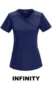 WOMEN : Antimicrobial Mock Wrap Scrub Top For Women (Embroidered with the BSC Logo)