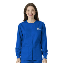 Drake Bulldogs Royal Women's Warm Up Nursing Scrub Jacket