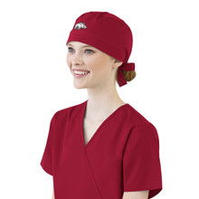 Arkansas Razorbacks Cardinal Scrub Cap for Women