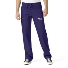 TCU Men's Grape Cargo Scrub Pants