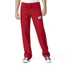 Wisconsin Badger's Men's Cargo Scrub Pants (6 piece Wisconsin W Minimum)*