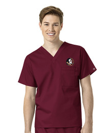 Florida State Men's V Neck Scrub Top