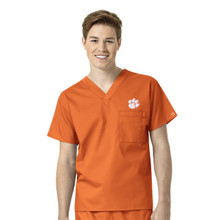 Clemson Tigers Men's V Neck Scrub Top