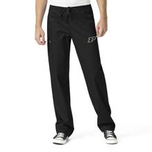 Purdue University Boilermakers Black Men's Cargo Scrub Pants (6 piece Purdue Minimum)