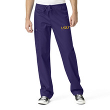 LSU Tigers Grape Men's Cargo Scrub Pants