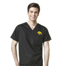 Iowa Hawkeyes Men's V Neck Scrub Top