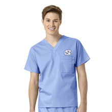 University of North Carolina Tar Heels Men's V Neck Scrub Top