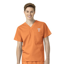 University of Tennessee- Volunteers Men's V Neck Scrub Top