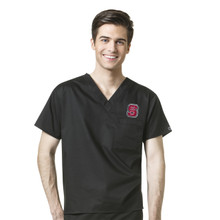 North Carolina State Wolfpack Men's V Neck Scrub Top*
