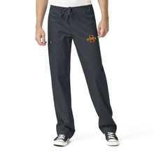 Iowa State University Cyclones Pewter Men's Cargo Scrub Pants