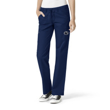 University of Penn State Nittany Lions Navy Women's Straight Leg Cargo Scrub Pants