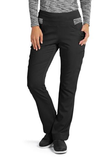 7858ee8c456 ... Grey's Anatomy™ Women's Harmony Knit Yoga Waist Scrub Pant*. Image 1