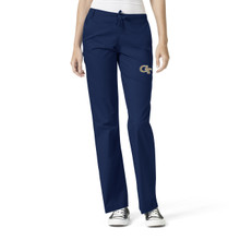 Georgia Tech - Yellow Jackets Women's Flare Leg Scrub Pants
