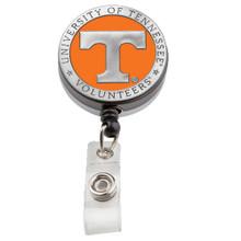 University of Tennessee Retractable Pewter Badge Reel - Licensed Volunteers Badge Reel