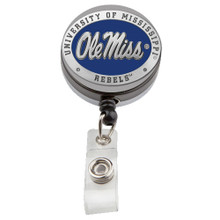 Ole Miss Pewter Badge Reel - Licensed Rebels Badge Reel