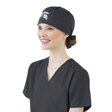 Michigan State Spartans Pewter Scrub Cap for Women