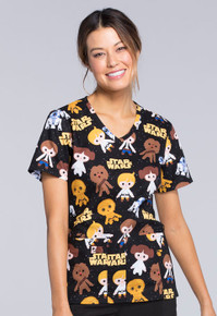 Star Wars - The Good Guys Scrub Top For Women