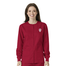 Indiana University- Hoosiers Cardinal Warm Up Nursing Scrub Jacket