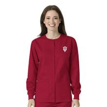 Indiana University- Hoosiers Cardinal Warm Up Nursing Scrub Jacket