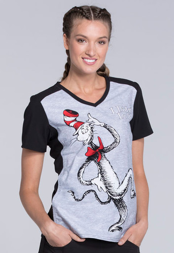1c546326537 ... Scrub Tops; Dr. Seuss Cat In The Hat Scrub Top For Women. Image 1
