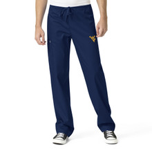 West Virginia Mountaineers Navy Men's Cargo Scrub Pants