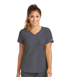 Skechers Women's Vitality V-Neck Solid Scrub Top*
