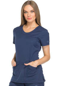 Dickies Dynamix : Women's Rounded V Neck Scrub Top*