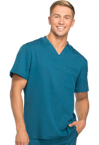 Dickies Dynamix : Men's V Neck Scrub Top with Sleeve Zip Pocket*