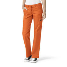 Oklahoma State Orange Women's Cargo Straight Leg Scrub Pants