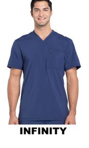 MENS : Athletic Antimicrobial Protection V Neck Scrub Top (Embroidered with BSC Logo)
