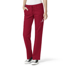 Alabama Crimson Tide Women's Cargo Straight Leg Scrub Pants*
