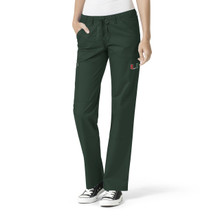 University of Miami Hurricanes Women's Cargo Straight Leg Scrub Pants