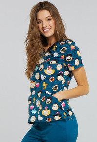 Charlie Brown and Peanuts Scrub Top for Women