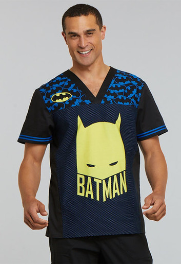 DC Comics Batman Scrub Top for Men