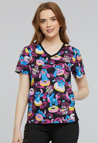 Lilo and Stitch Scrub Top for Women