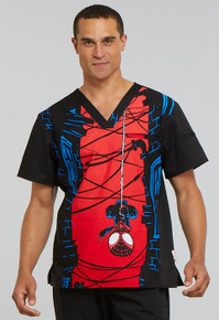 Spiderman V Neck Scrub top for Men