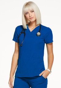 Elle : Women's Mock Wrap Scrub Top*