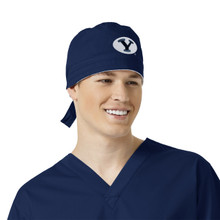 BYU Navy Scrub Cap for Men