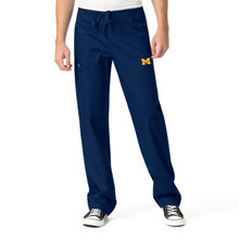 University Of Michigan Wolverines Navy Men's Cargo Scrub Pants